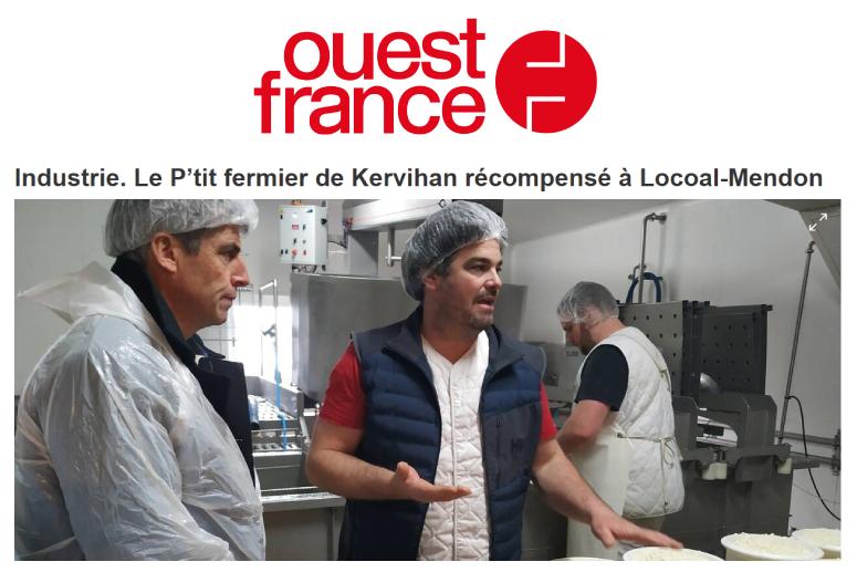 Ouest France Le P'tit Fermier Fromages Bio