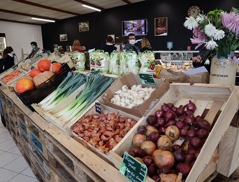 Fruits et légumes bio de saison aux Ferm'andises à Auray