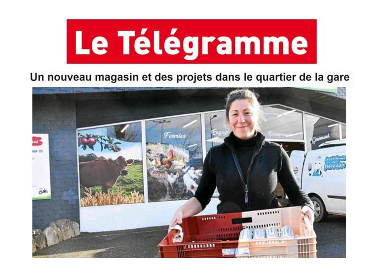 Presse : un nouveau magasin Les Ferm'andises à Auray Le Télégramme