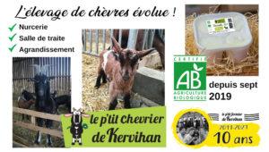Septembre 2019 : élevage de chèvre certifié Bio