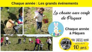 Les grands événements du P'tit Fermier de Kervihan : la chasse aux œufs de Pâques