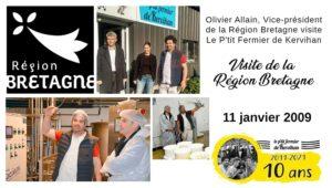 Visite de la région Bretagne en janvier 2019